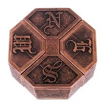 Винтажная металлическая литая головоломка коробка замок головоломка игрушка IQ EQ ум мозг тизер детский подарок 88 YJS Dropship