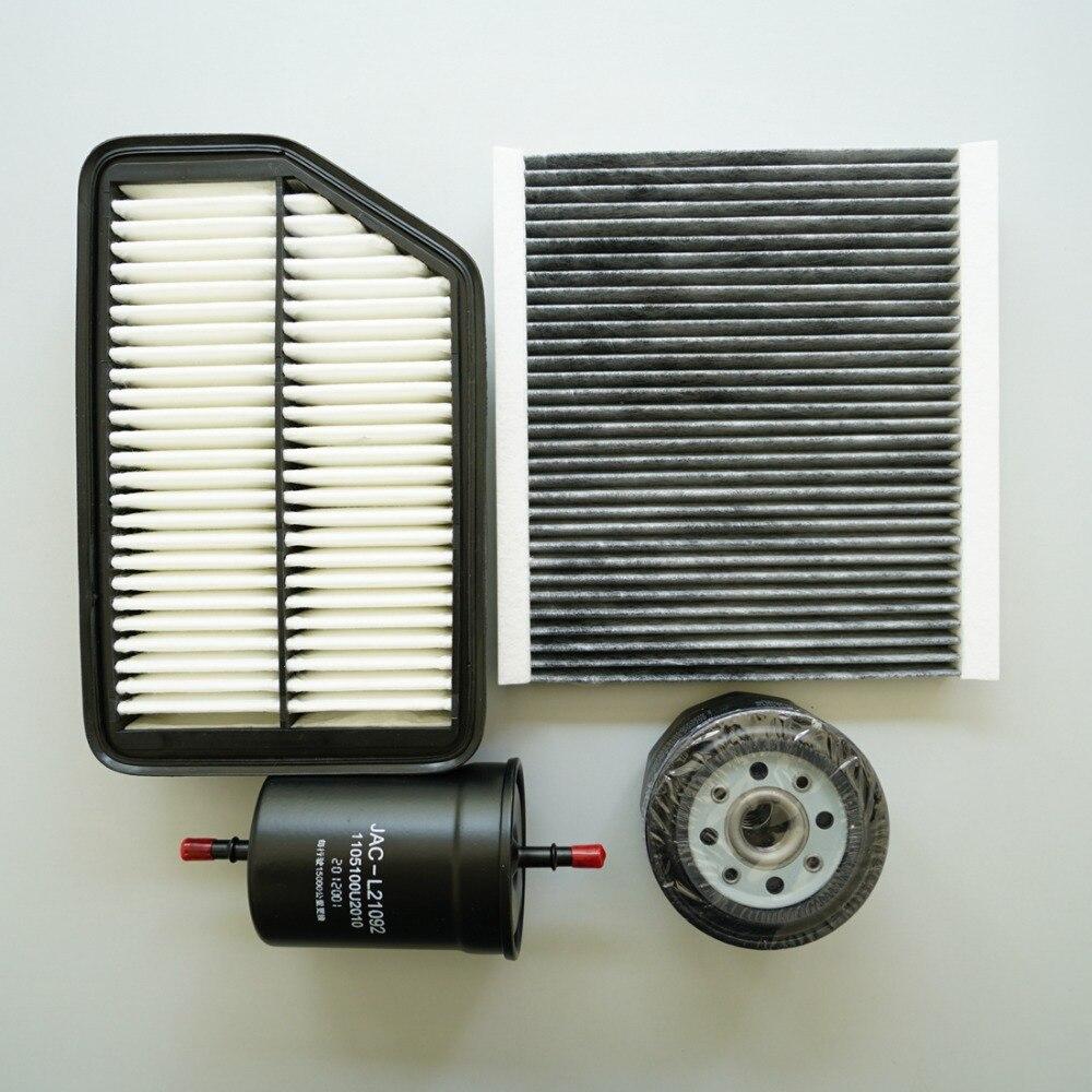 Воздушный фильтр + воздушный фильтр в салоне + топливный + Масляный фильтр для JAC S5 air cabin filter filter airfilter fuel   АлиЭкспресс