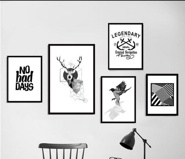 Stile nordico new art poster art quadri su tela della parete della pittura picture stampa nessun - Quadri per camera bambini ...