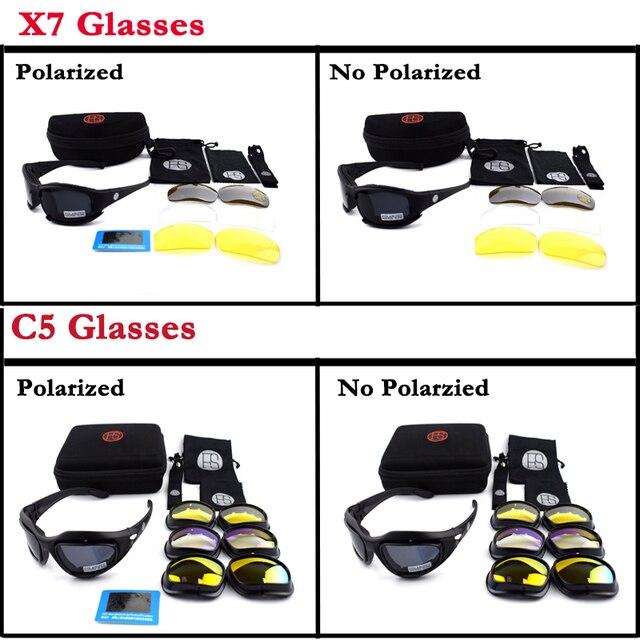 d2d82fd15ab41a Vente chaude Militaire lunettes de Soleil UV Protection C5 X7 Polarisées Tactique  Lunettes Hommes En Plein