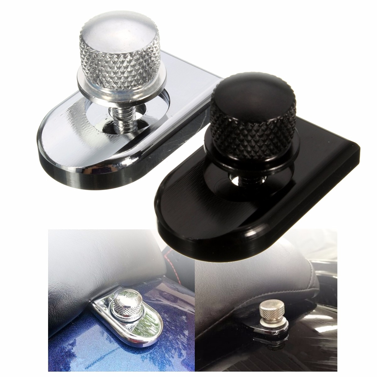 1/4-20 Motorcycle Seat Bolt Tab Screw Mount Knob Cover for Harley Sportster Dyna