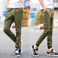Fashion cuff drop crotch drawstring men pants for spring autumn joggers cotton sweat pants Hip Hop dance male trousers