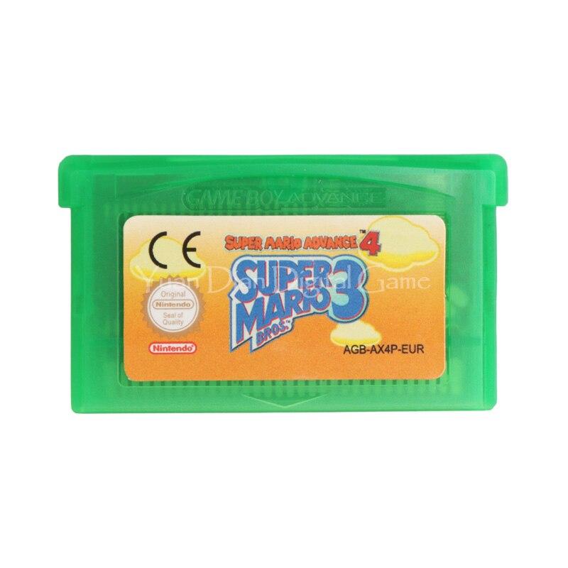 Yuan Dian Digital Game Store Store Nintendo GBA Video Game Cartridge Console Card Super Mario Advance 4 Super Mario Bros.3 ENG/FRA/DEU/ESP/ITA  Language Version