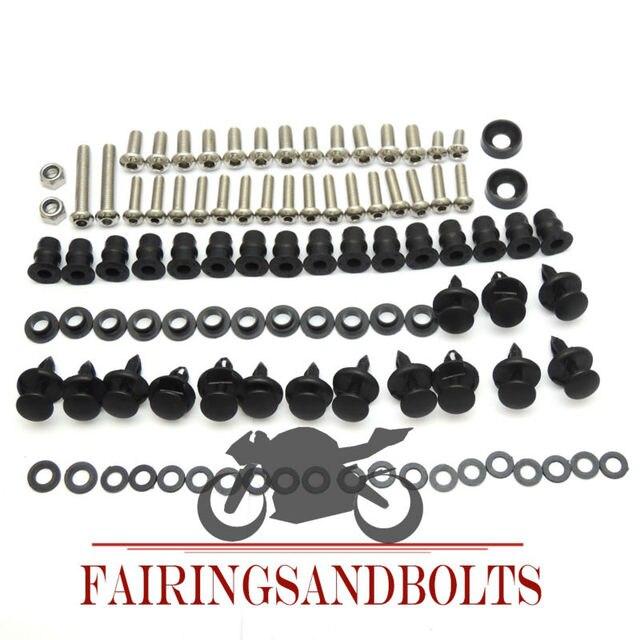 2002-2009 vfr800 completo carenado tornillos de tornillos kit para honda 2002 2003 2004 2005 2006 2007 2008 2009 piezas de la motocicleta