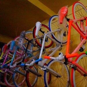 Image 5 - 3個バイク壁スタンドホルダーマウント自転車マウンテンバイク収納ウォールマウントラックは自転車スチール製壁面ハンガーフック