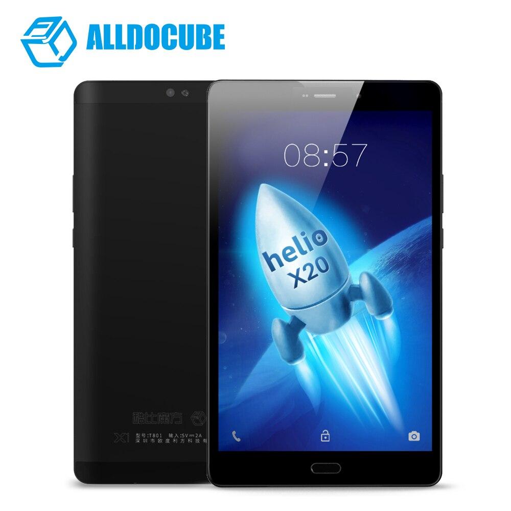 8.4 Pouce 1600*2560 ALLDOCUBE X1 Comprimés 4G Appel Téléphonique Tablet PC MTK X20 Deca core Android 7.1 4 GB RAM 64 GB ROM 13MP