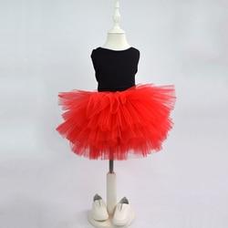 Fashion Girls Tutu Super Fluffy 6 Layers petticoat Princess Ballet Dance Tutu Skirt Kids Cake Skirt  Chritsmas Children Clothes