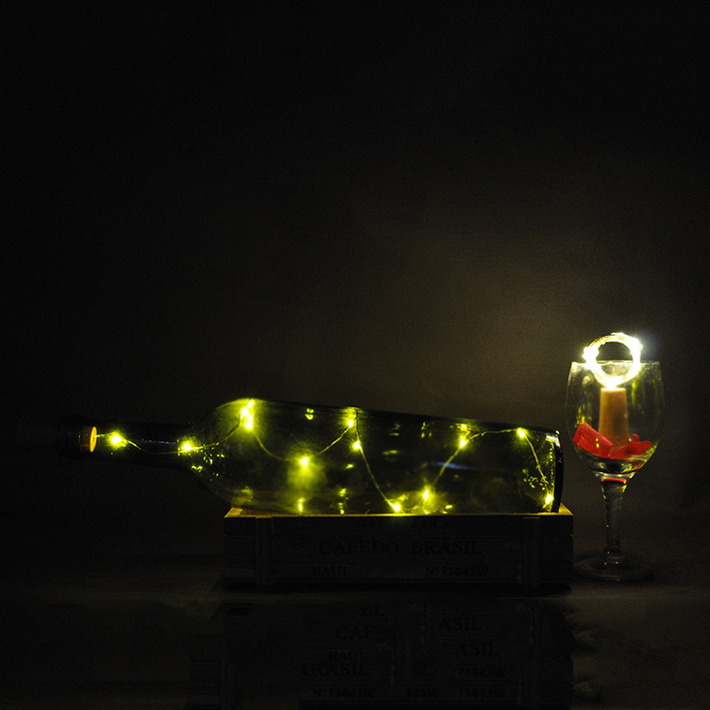 9Pcs Wine Bottle Cork String Lights 2M/20 LEDs Copper Wire For Halloween Christmas Party DIY Decor GHS99