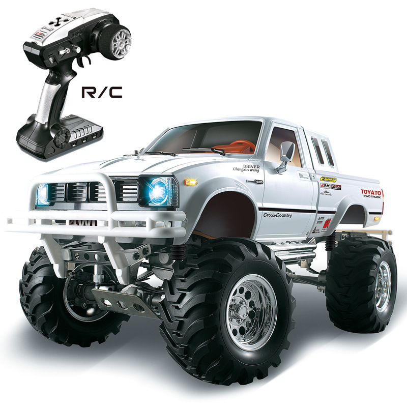 New High speed electronic remote control Monster Truck 1/10 RC Rock Crawler with Brake Function vs TAMIYA 4x4 Pick-up Bruiser image