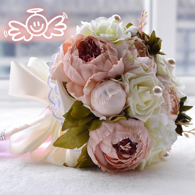 Vintage Floral Wedding Bouquets : Aliexpress buy vintage pristian zouboutin artificial