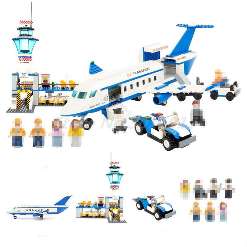 GUDI 8912 652pcs City Air Plane International Airport Aviation Building Block Brick DIY Toys For Children Christmas Gifts gudi city international airport