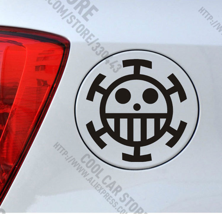 ONE PIECE Car sticker Evangelion extra fuel tank cap telafaerjialuo creative body stickers For golf mk7 mazda cx 5 jetta mk6