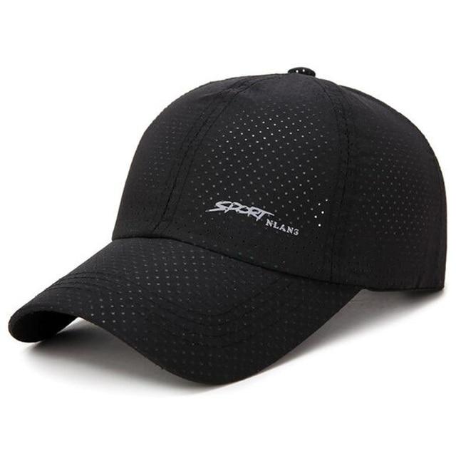 Korean Solid-colored Punch Baseball Caps Summer Nylon Breathable Net Cap  Men And Women Quick Drying Hats Brand Snapback 5386cd8ec70