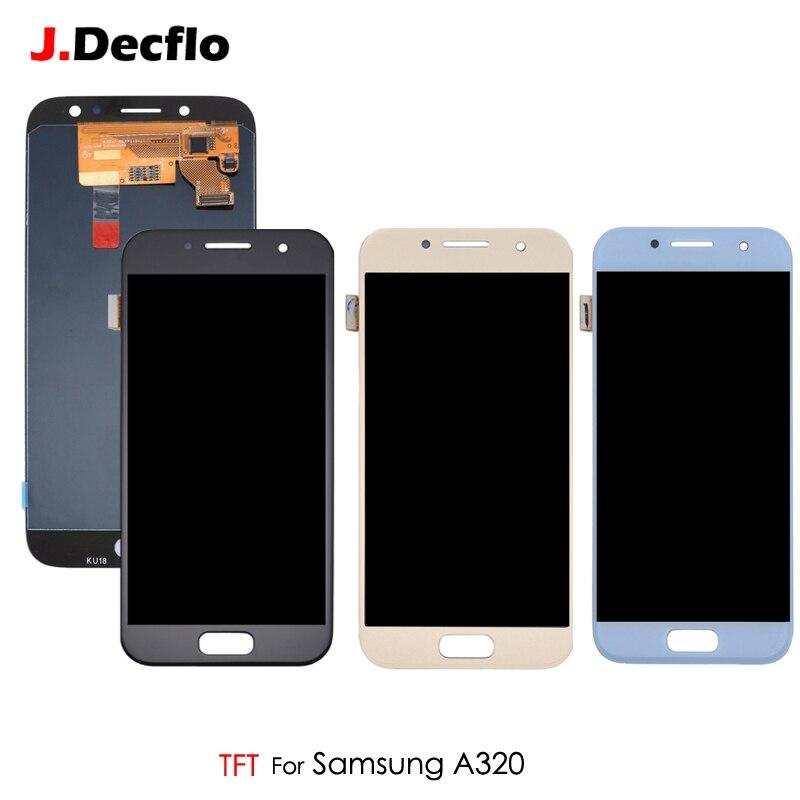 Écran LCD TFT pour Samsung Galaxy A3 2017 A320 A320F écran tactile numériseur assemblée remplacement luminosité Ajustable