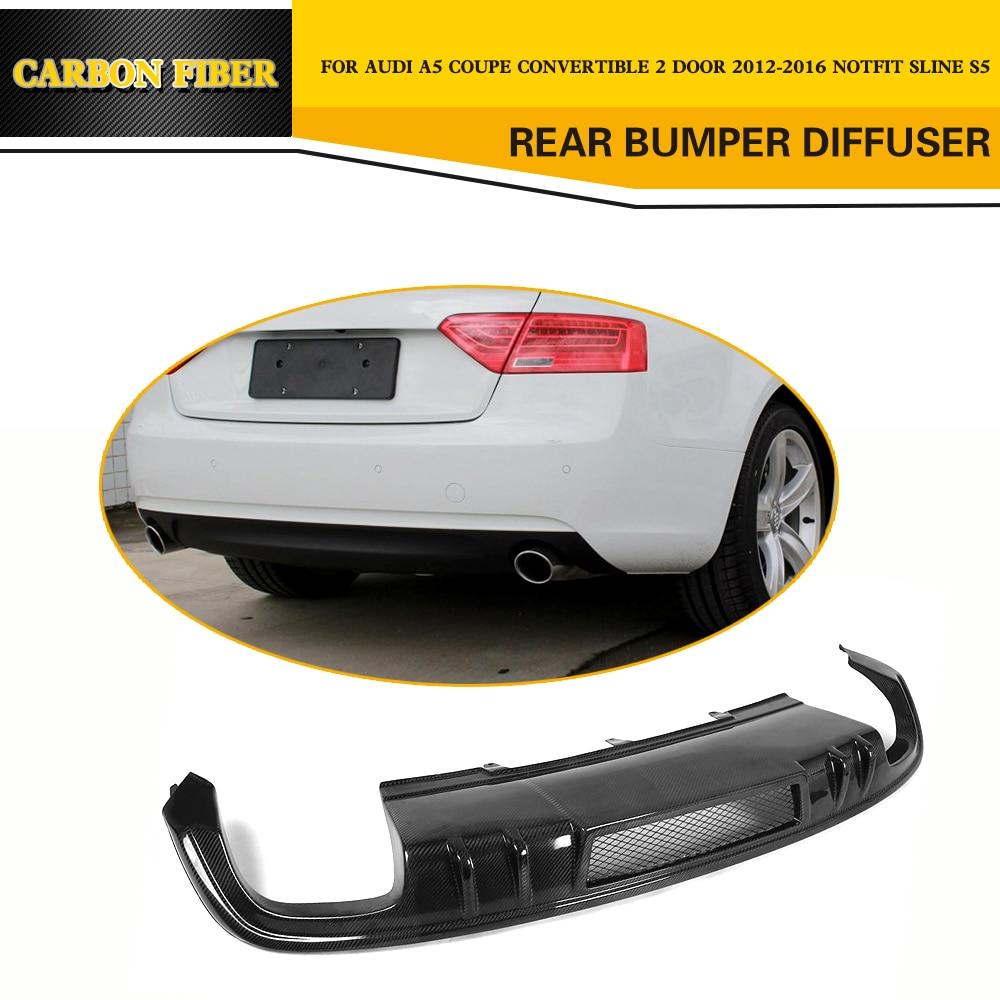 Carbon Fiber Rear Bumper Diffuser Spoiler For Audi A5
