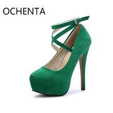 Оригинальный ochenta MENS14-1 женские ботильоны на платформе с ремешком туфли-лодочки шпильках Платье каблук свадебные туфли Обувь на высоком каблуке Женская обувь
