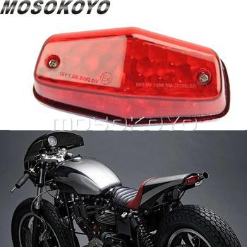 אופנוע LED Emark לוקאס אחורי אור בלם טאיליט אוניברסלי להארלי נצחון קפה רייסר שלגון זנב בלם אור