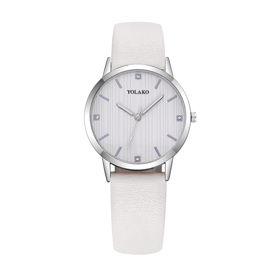 אופנה פשוט נשים שעונים נשים אלגנטי עור נשי שעון קוורץ מזדמן גבירותיי שעון יד צמיד מתנה zegarek damski