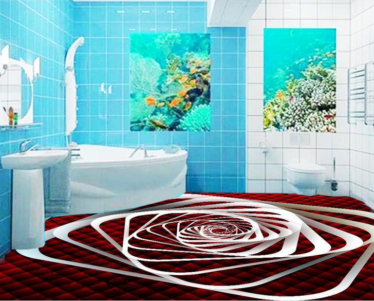 ФОТО custom pvc self adhesive wallpaper 3d flooring spiral Sound-Absorbing Environment Friendly vinyl flooring adhesives