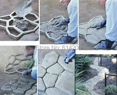 2018 Top Quality Garden tool path-mate DIY Stone Pavement mold for making pathways for your garden / paving mold