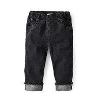 Crianças de Jeans Jeans Meninos Moda Holes Projeto Crianças Calças Meninas Ripped Skinny Jeans Primavera Outono Baby Girl Calças Retas