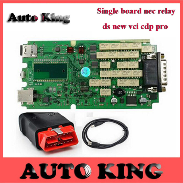 2015 R1 Free Activate Super quality A+ DS TCS CDP PRO Without bluetooth + cover box single green board for cars trucks Free ship