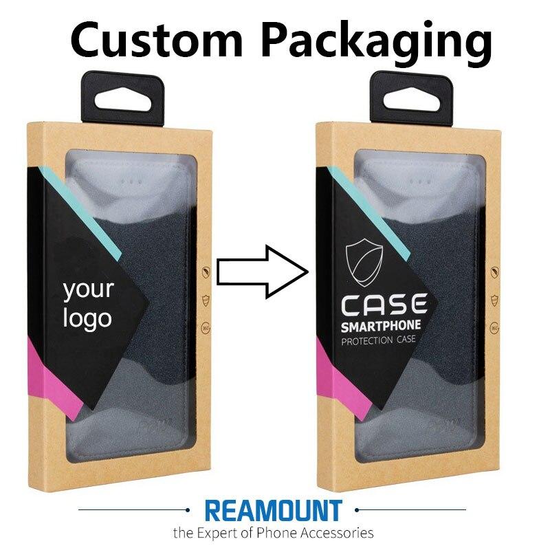 bilder für 200 stücke Großhandel Benutzerdefinierte LOGO Hochwertige Kraftpapier Verpackung Für Telefonabdeckung Für iPhone 7 7 plus Mit Aufkleber & Innen Trays