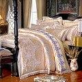 Rosa de Seda de lujo ropa de cama de sábanas de algodón colcha de matrimonio Romántico/duvet/ropa de cama edredón funda de almohada de 4 unid conjunto