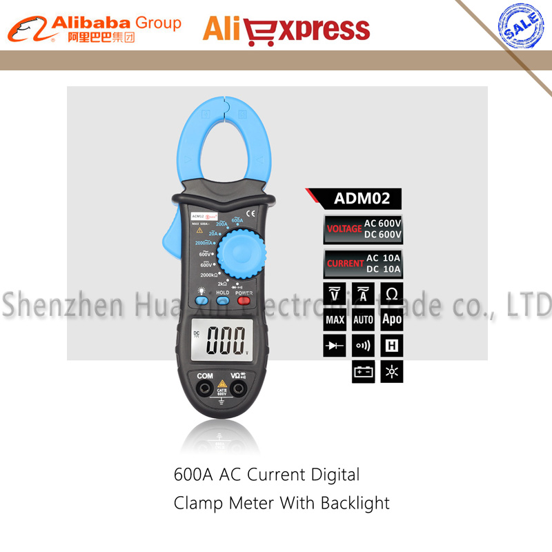 Bside ACM02 Plus 600A AC Current Digital Clamp Meter with AC/DC Voltage Resistance Capacitance Frequency Temperature measurement  vc6056d digital ac dc clamp meter 600a refrigerant special