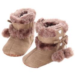Для маленьких мальчиков и девочек мягкой подошвой зимние сапоги новорожденного малыша теплые кроватки обувь