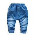 2016 новая коллекция весна способа Высокого качества дети шаровары 1-4 год дети мальчики/девочки джинсы ребенок мальчик брюки