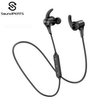 SoundPEATS Bluetooth 5.0 Wireless Earphones IPX6 Magnetic in-Ear Wireless Earbuds 14Hours Play time APTX-HD CVC Q12 HD - DISCOUNT ITEM  25% OFF All Category