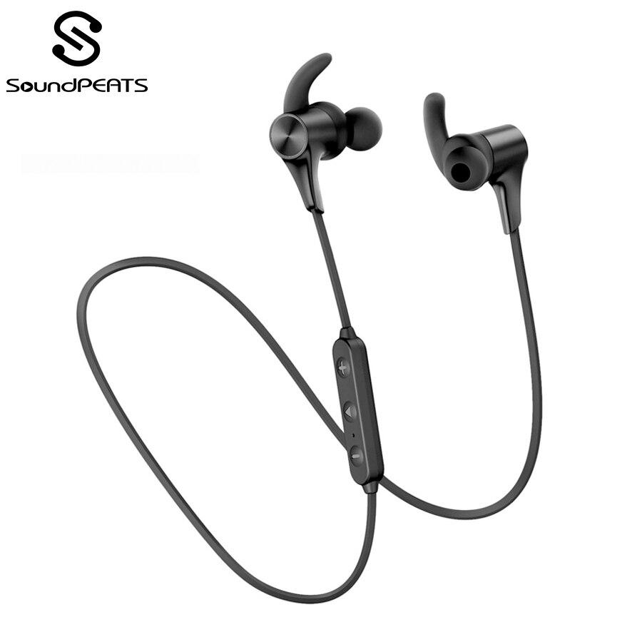 Fones de Ouvido sem Fio Soundpeats Ipx6 Magnética no Ouvido Bluetooth 5.0 9 Horas Playtime Aptx ll Cvc 8.0 Q12plus