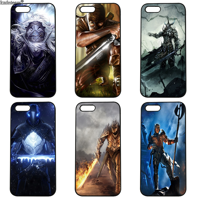 Cell Phone Cases Fantasy Warrior Hard PC Plastic Cover Fitted for iphone 8 7 6 6S Plus X 5S 5C 5 SE 4 4S iPod Touch 4 5 6 Shell