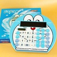 Cute Large Screen Cartoon Solar Calculator Creative Personality Blue Computer Shipping