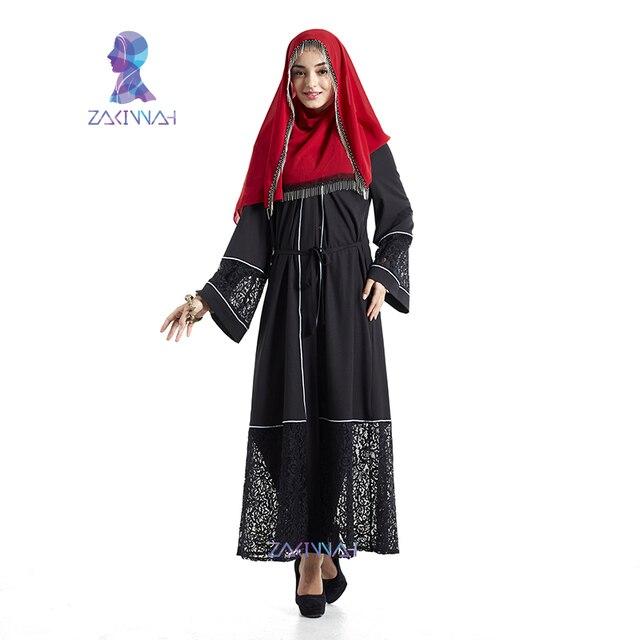 57cf3c9d56 New lace abaya design fashion saudi arabia clothing turkish clothing muslim  dress for women long maxi Kaftan free shipping-in Islamic Clothing from ...