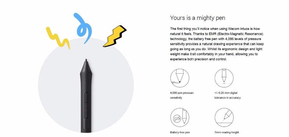 Wacom CTL6100WLKOCX Intuos Pen Bluetooth Medium Black