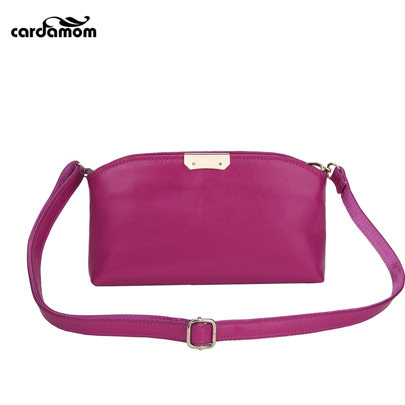 Cardamom New Fashion Women Bag Oil Wax Genuine Leather Shoulder Crossbody Bag Simple Fashion Cowskin Women Messenger Bags new 2017 fashion brand genuine leather women handbag europe and america oil wax leather shoulder bag casual women