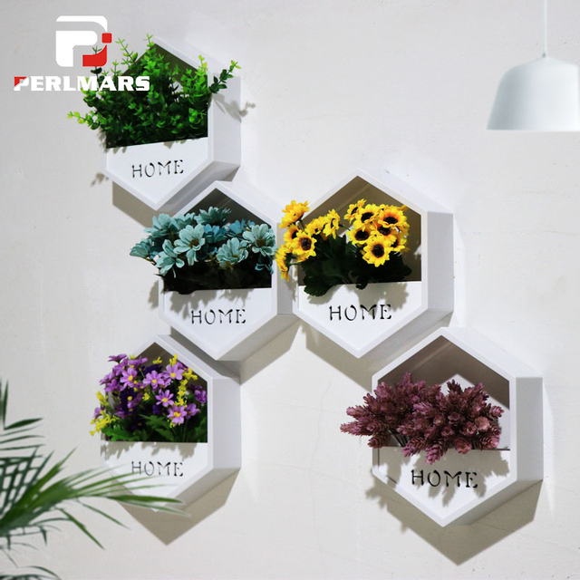 Creative Ins Hanging Wall Clock Acrylic White Artificial Flower