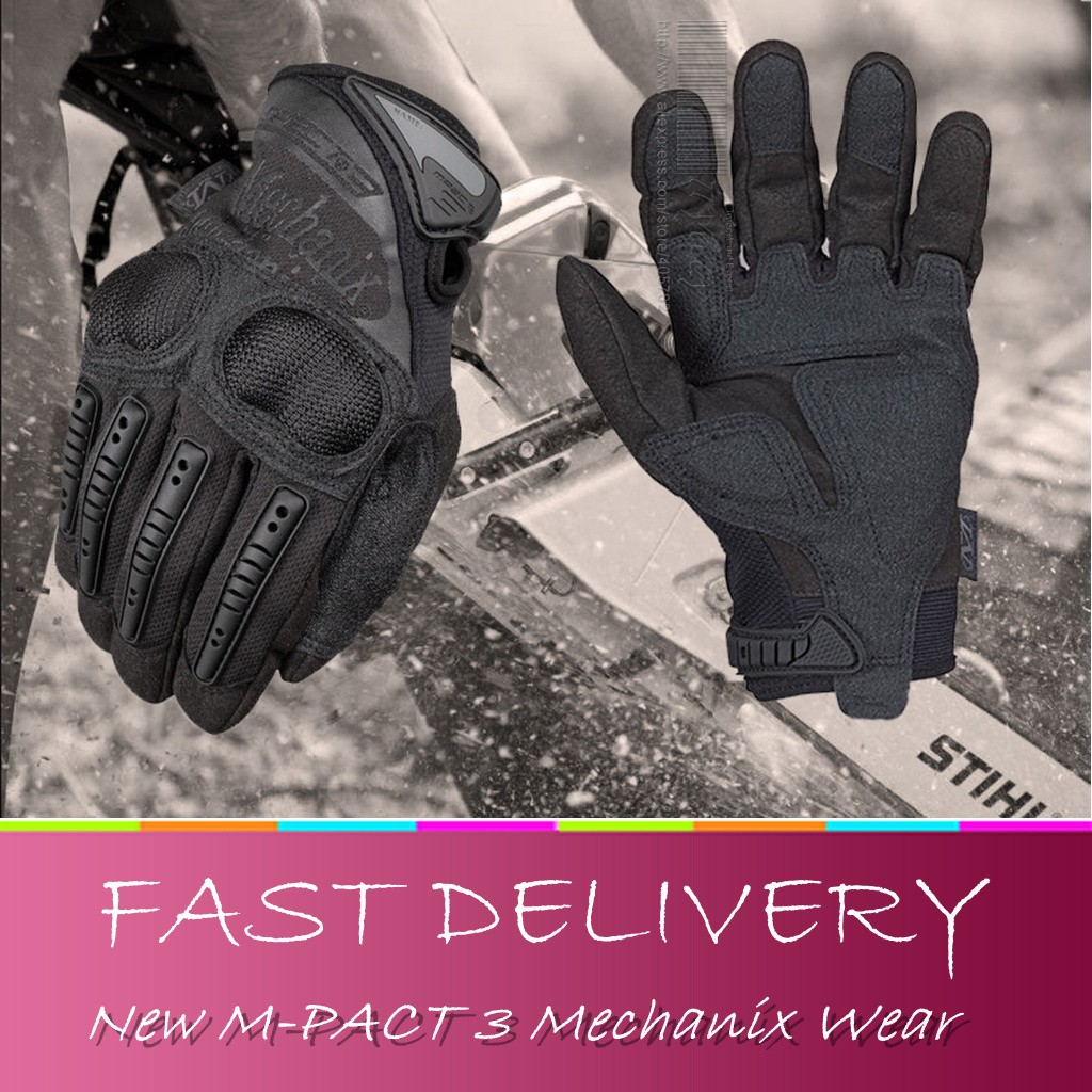 Fingerless impact gloves - Tactical Wear M Pact 3 Gloves Duty Ultra Knuckle Protection Gloves Impact Airsoft Paintball Carbon Fiber Gloves