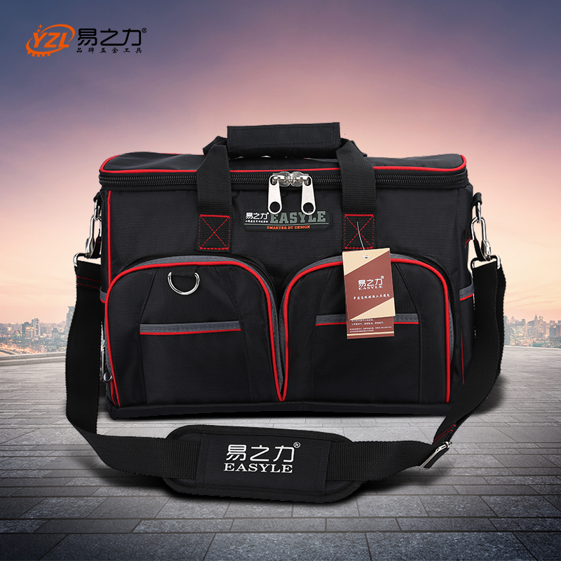 Multifunction Tool Bag Large Capacity Thicken Professional Repair Tools Bag 12inch 14inch 16inch 18inch Messenger Toolkit Bag hoomall large capacity tool bag multifunction oxford professional electrician shoulder toolkit waterproof wearable tools bag new