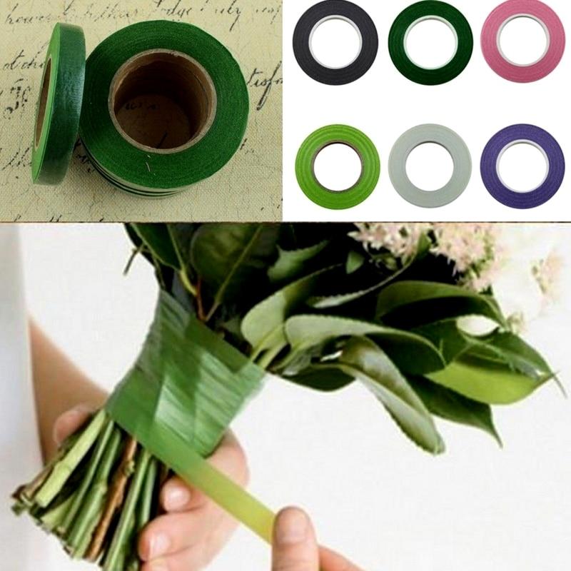 Fashion 30yards Florist Floral Stem Garland Tapes Artificial Flower Stamen Wrap Decor DIY Wreath Floral Crafts