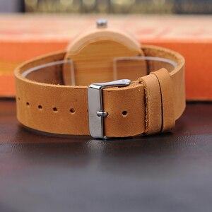 Image 4 - BOBO ptak bambusa kobiet zegarki skórzany pasek kwarcowy analogowy drewna zegarki relogio feminino w szkatułce zaakceptować Logo