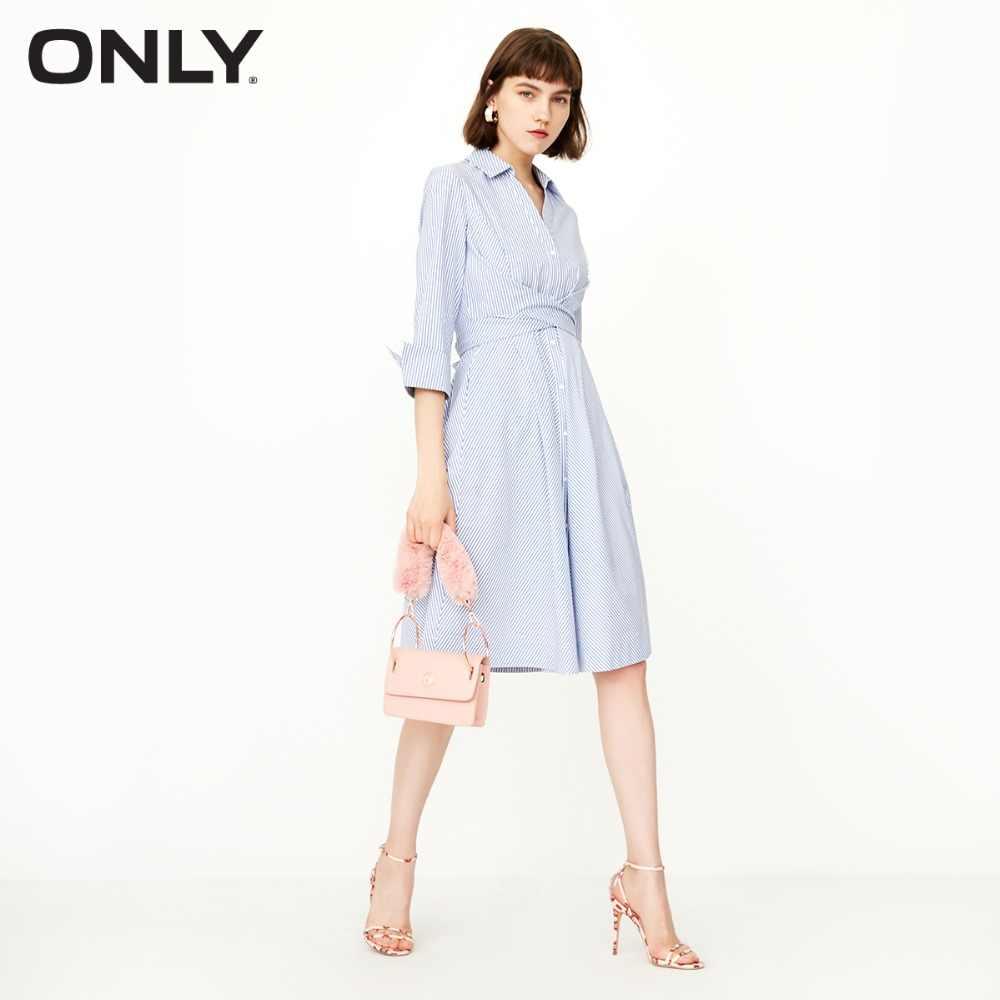 Только платье-рубашка из 100% хлопка с v-образным вырезом Женская   118307555