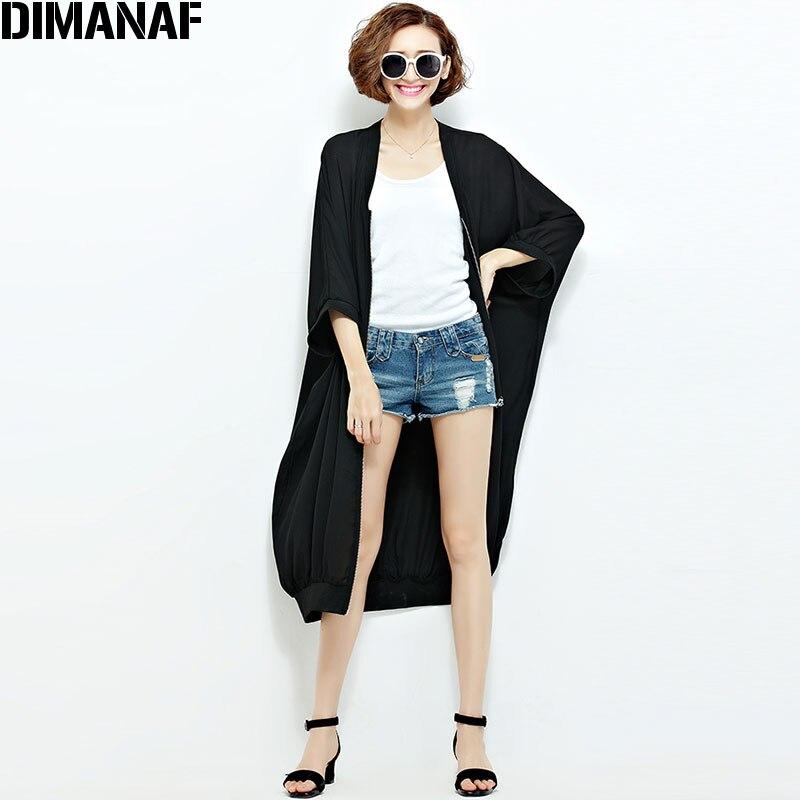Ljeto Šifon Kaputi Ženska Duge džemper Plus veličina Čvrsta - Ženska odjeća - Foto 3