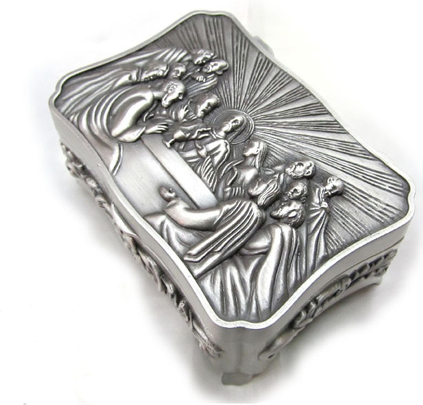 The Last Supper Of The Catholic Holy Goods Collection Box Catholicism Storage Box Tin Caddy Prayer Beads Holy Cards Jesus Church