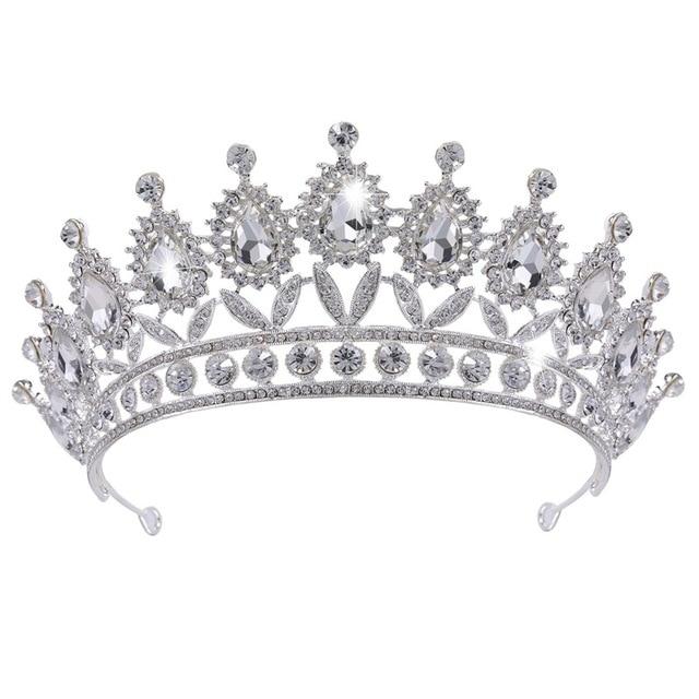 Corona De La Boda Tiaras Flor Forma Plata Coronas Rey Boda