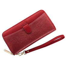 2019 Fashion Women Wallets Long pu leather Style Multifunction wallet Purse Fresh Female Clutch Card Holder fashion style women s clutch with rivets and pu leather design