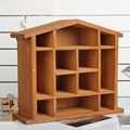 Creative Solid Wood Wall Hanging Storage Rack Retro Wood Sorting Rack