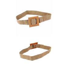 New Vintage 2019 Handmade Womens European and American Fashion Style Simplee Bohemian belt for women Straw buckle decoration dre